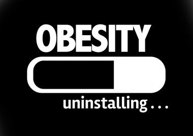 Bar Uninstalling with the text: Obesity