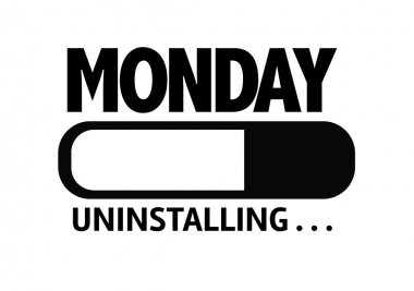Bar Uninstalling with the text: Monday