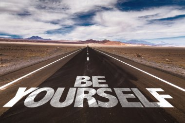 Be Yourself on desert road