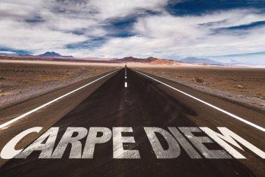 Carpe Diem on desert road
