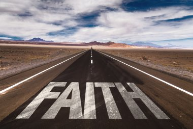 Faith on desert road