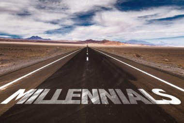 Millennials on desert road