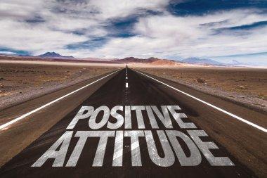 Positive Attitude on desert road