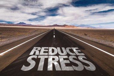 Reduce Stress  on desert road