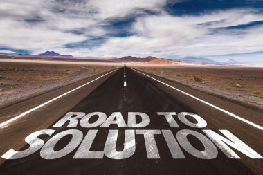 Road to Solution  on desert road