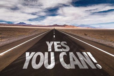 Yes You Can on desert road