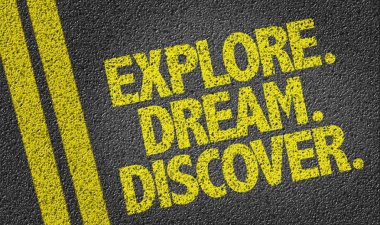 Explore. Dream. Discover. on the road