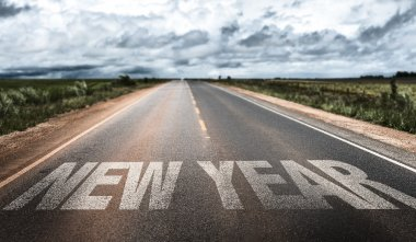 New Year on rural road
