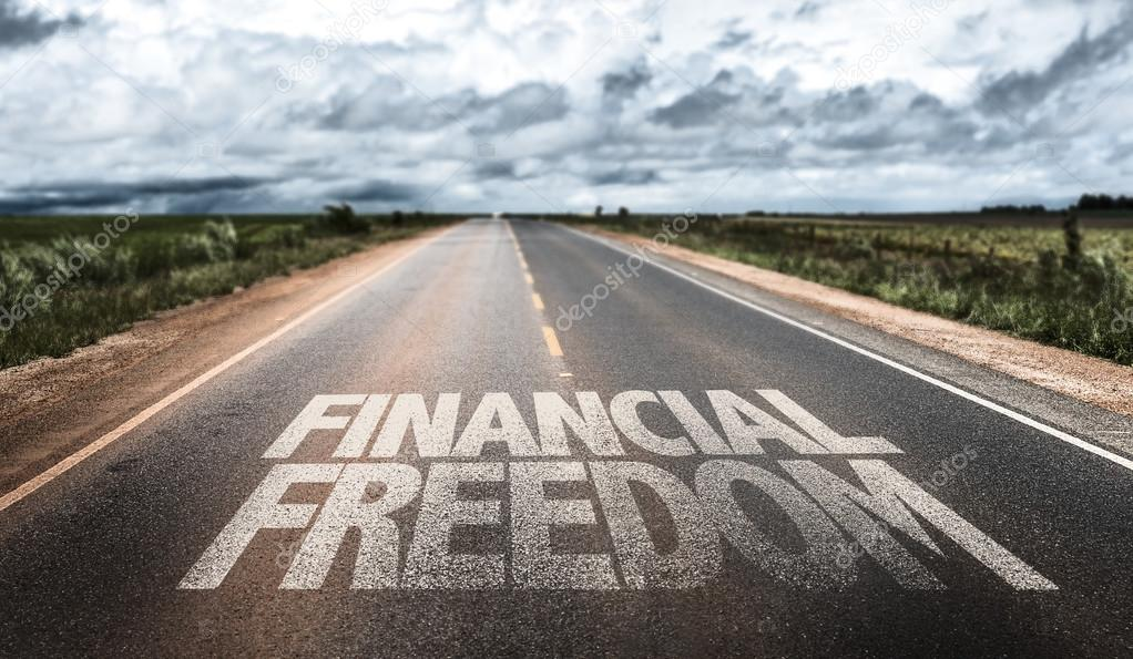 Financial Freedom on rural road