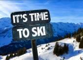 Fotografie Seine Zeit auf Ski-Zeichen