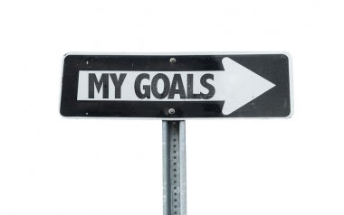 My Goals direction sign