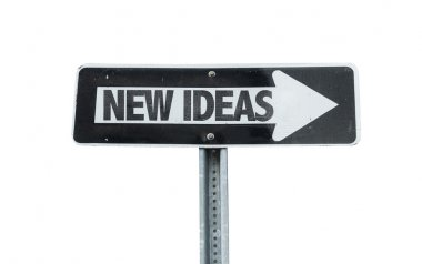 New Ideas direction sign