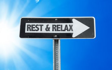 Rest & Relax direction sign
