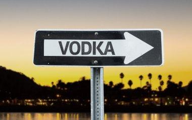 Vodka direction sign
