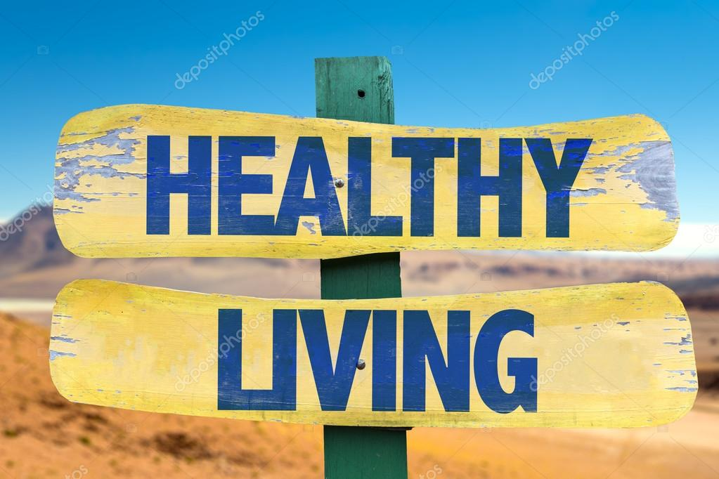 Healthy Living sign