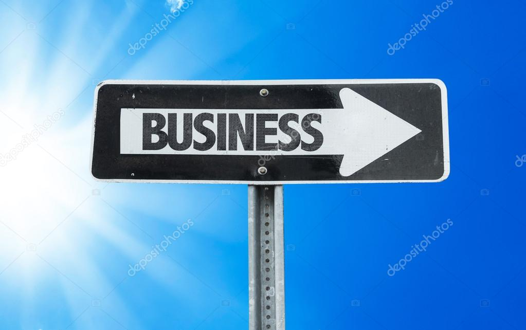 Business direction sign
