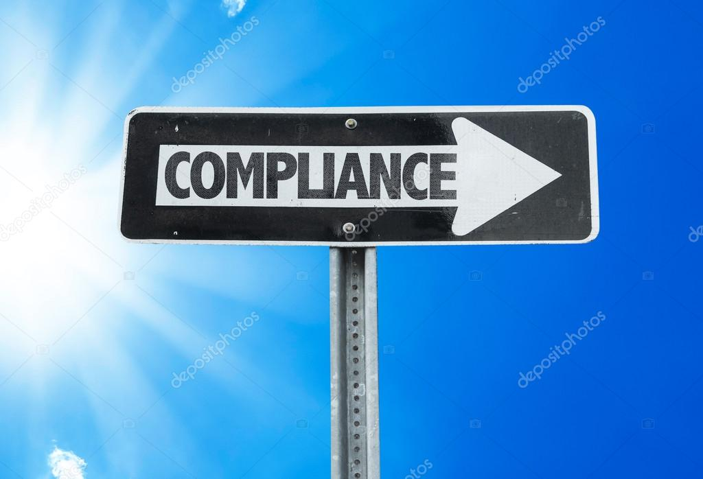 Compliance direction sign