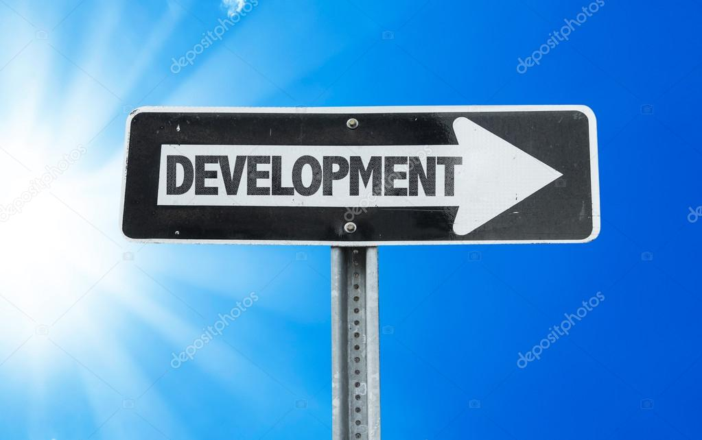 Development direction sign