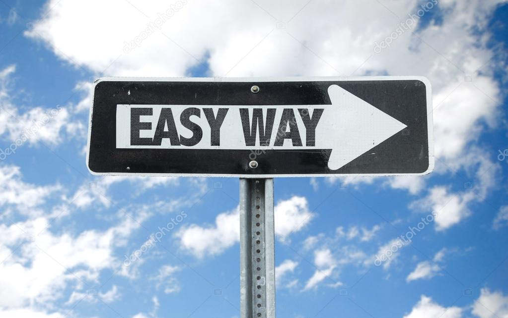 Easy Way direction sign