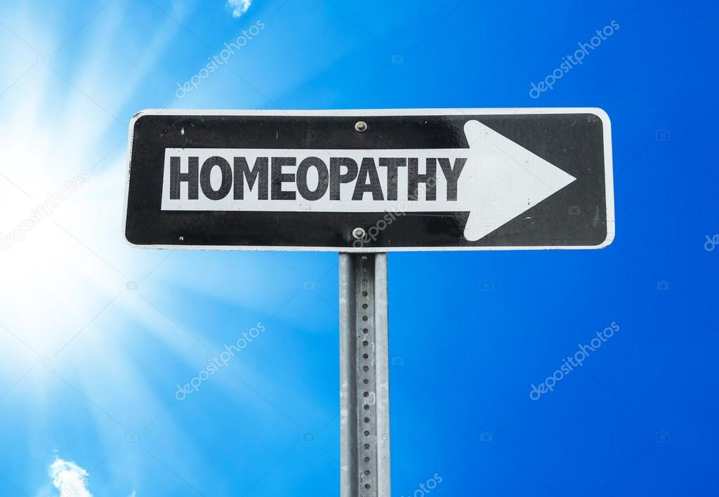 Homeopathy direction sign