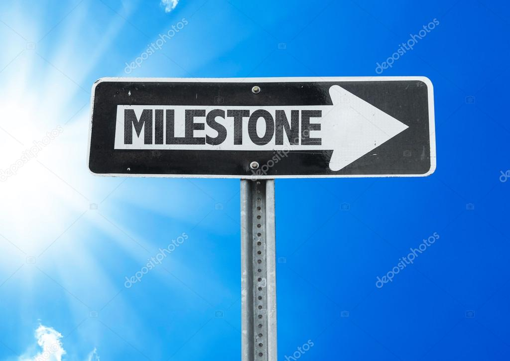Milestone direction sign