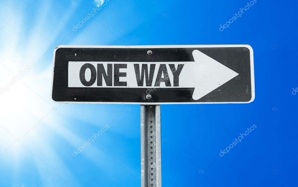 One Way direction sign