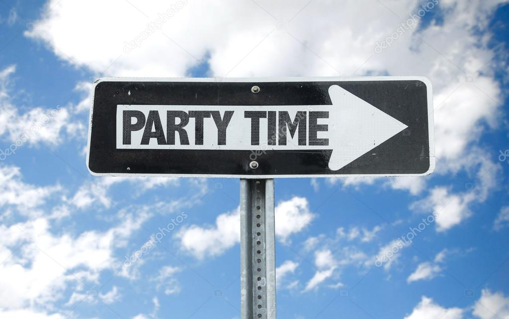 Party Time direction sign