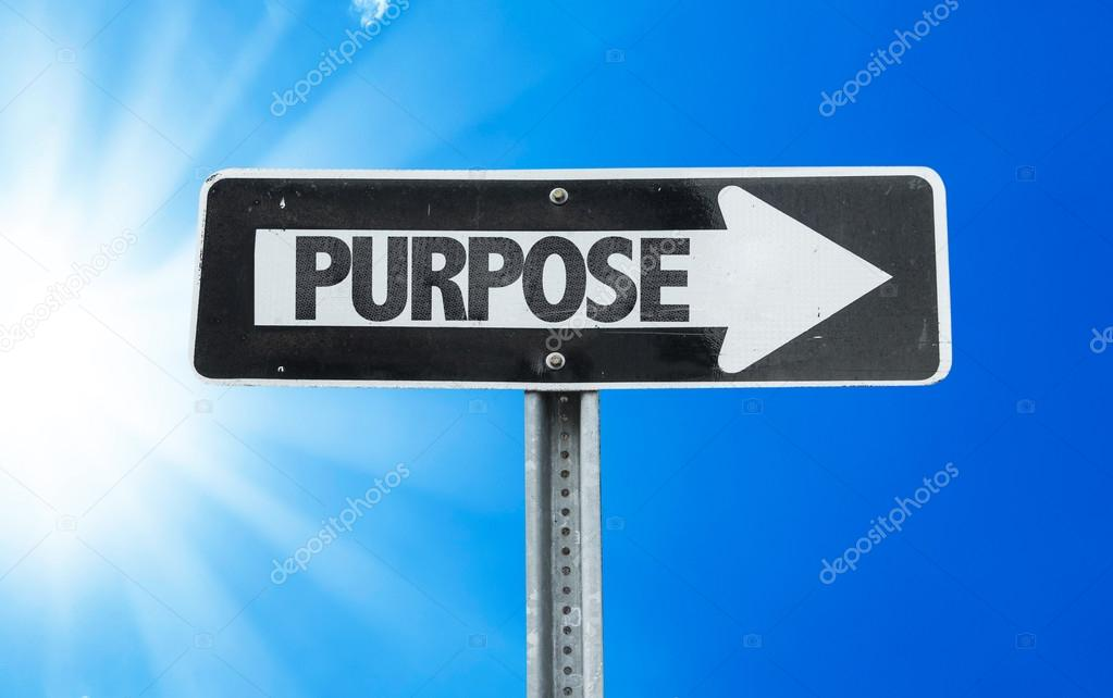 Purpose direction sign