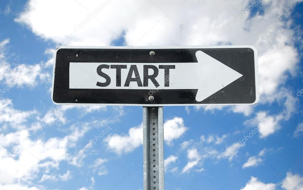 Start direction sign