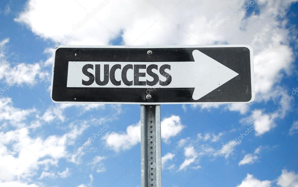 Success direction sign