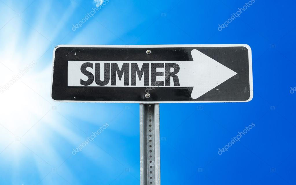 Summer direction sign