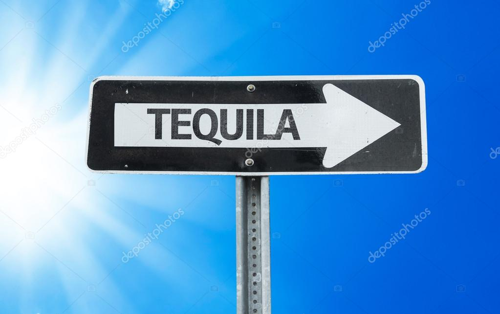 Tequila direction sign