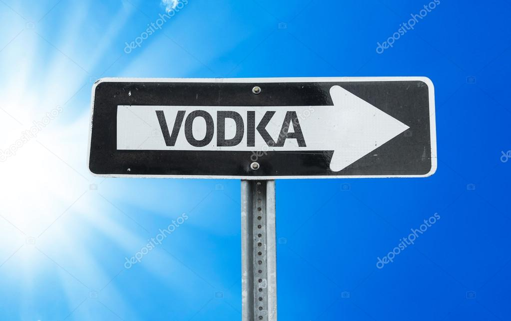 Vodka direction sign