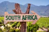 Fotografie South Africa wooden sign
