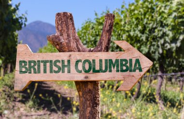 British Columbia wooden sign