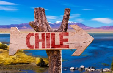 Chile wooden sign