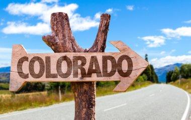 Colorado wooden sign