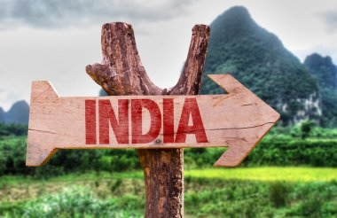 India wooden sign