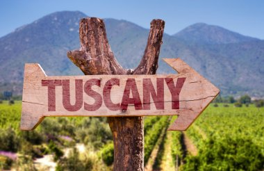 Tuscany wooden sign