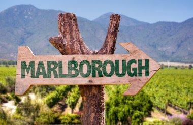 Marlborough wooden sign