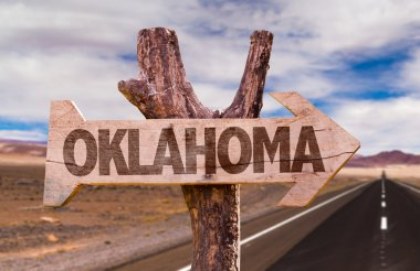 Oklahoma wooden sign
