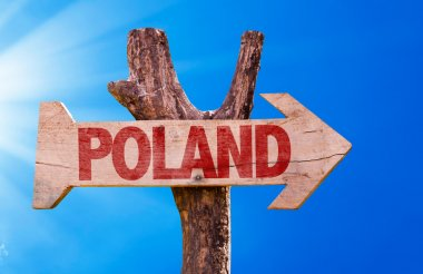Poland wooden sign