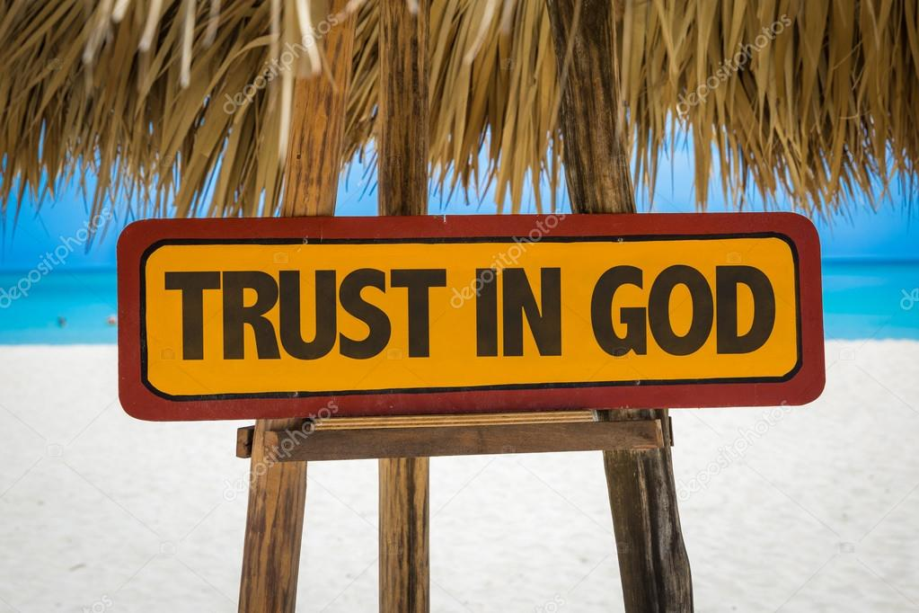 Trust in God sign