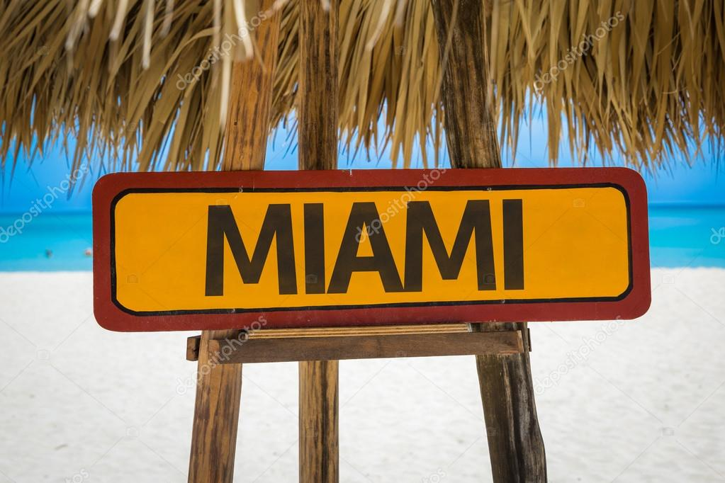 Miami text sign