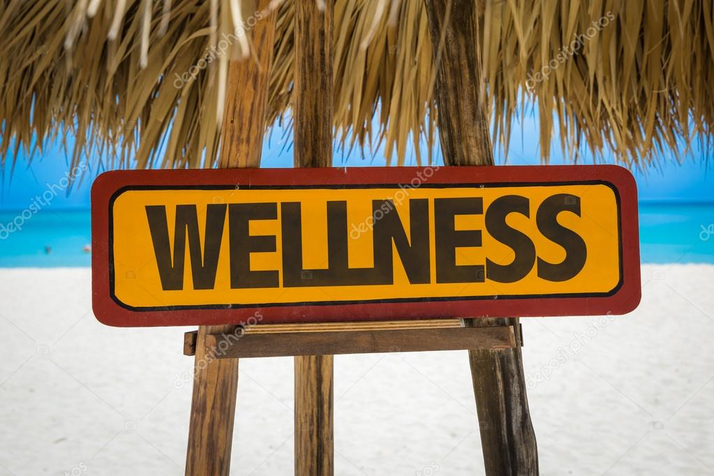 Wellness text sign