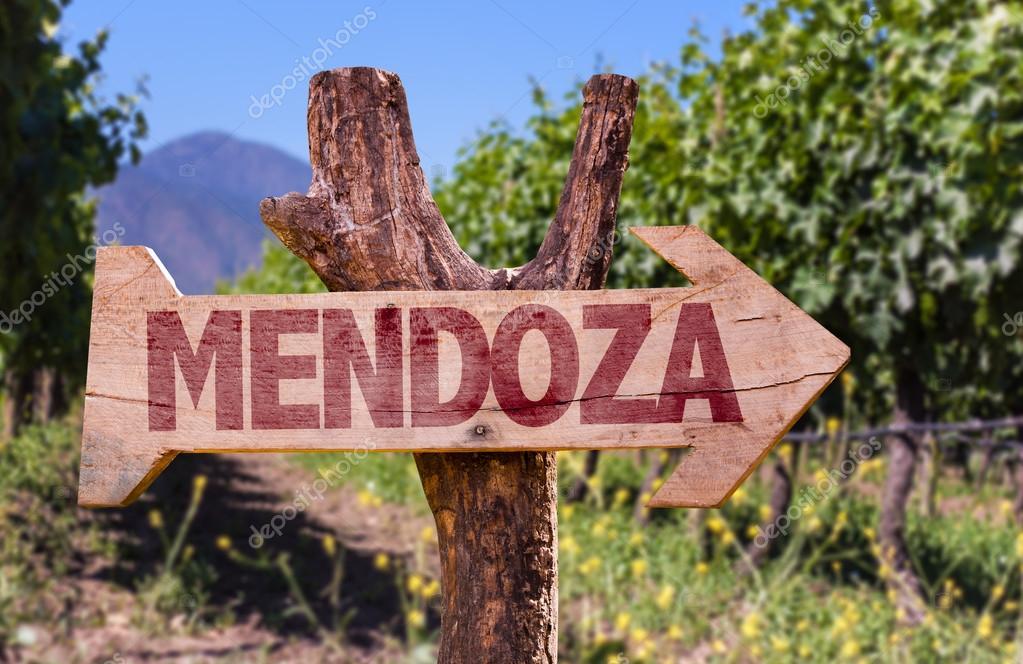 Mendoza wooden sign