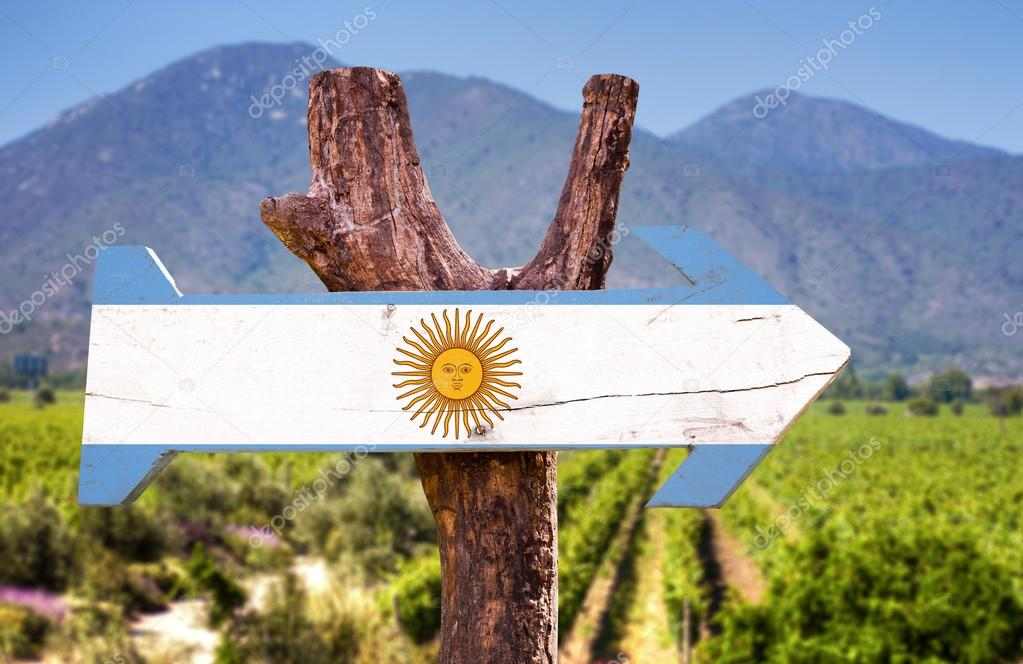 Argentina Flag wooden sign