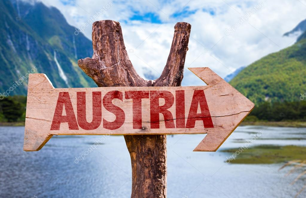 Austria wooden sign