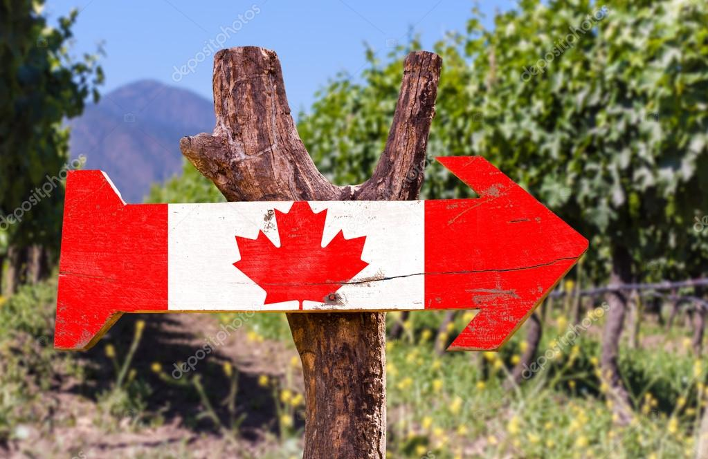Canada Flag wooden sign