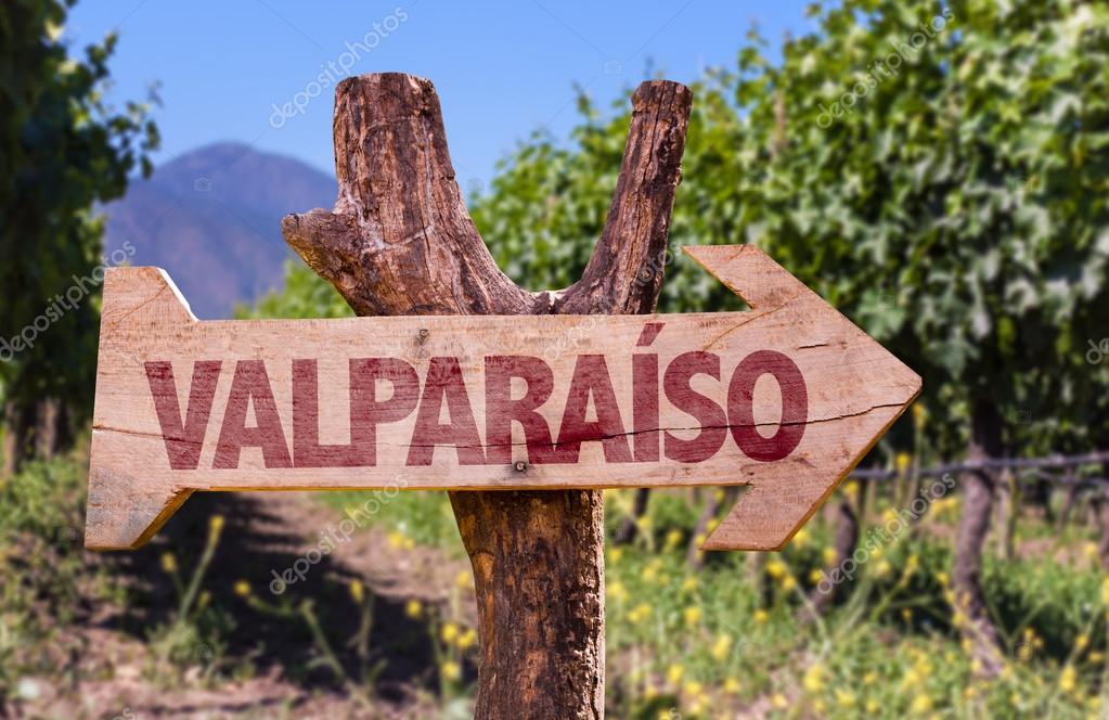Valparaiso wooden sign